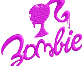 Zombie Barbie Embroidery Design