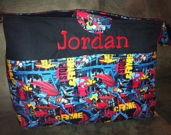 A beautiful diaper-bag Superman