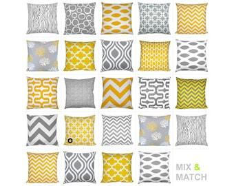 1 pillowcase graphic pattern GOTCHA 40 x 40 cm yellow white