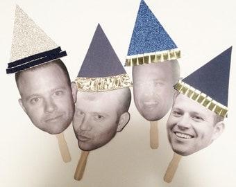 Party Hat Faces, Face Fans, Faces on Sticks