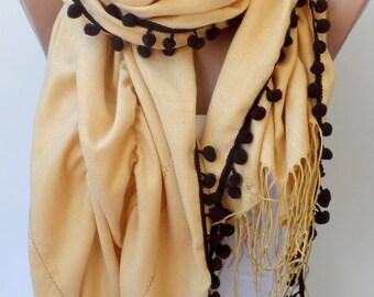 Jasmine Ruffle Pashmina Scarfs Ruffle pashmina scarves Pompom scarf Frilly Women scarf Wedding scarf Jasmine scarfs Fashion Accessories