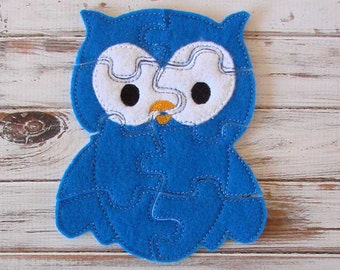 Owl Puzzle - Shape Puzzles - Kids - Toddler - Educational - Eco Friendly Toy