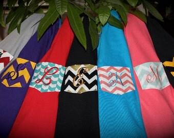 Sooo Comfy Monogrammed Pocket T-Shirt, Tee, Tshirt, the Chevron Collection