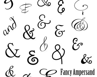 INSTANT DOWNLOAD Ampersand Word Art Overlays and Free Gift for Photography, Digital Scrapbooking, Card Making, Printing and Much More!