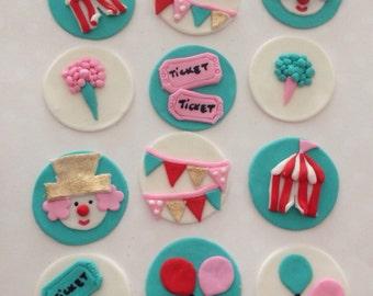 Circus Fondant Cupcake decoration