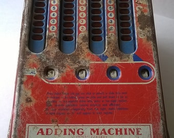 Old Wolverine Metal Adding Machine Toy 40s 50s Super Cute!