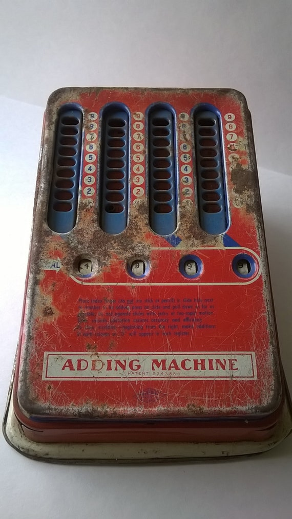 Toys From The 40s : Old wolverine metal adding machine toy s super cute