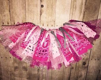 Cowgirl Birthday Tutu - Western - Rodeo - First Birthday Tutu - Infant Toddler Girls