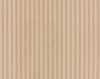 Petite Woven Silky Cotton Stripe Cream Rouge - 1/2yd