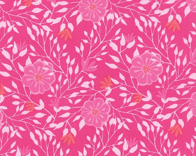 Paradiso by Kate Spain - Camelia Hibiscus Pink - 1/2yd