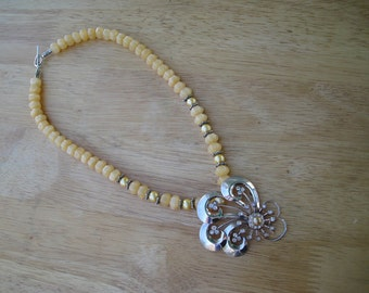 sterling silver necklace in shades of yellow