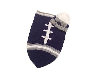Dallas Fan Favorite Baby Girl Football Cocoon & Hat (Newborn to 3 months)