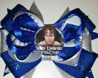 wwe wrestling Dean Ambrose  hair bow with alligator clip