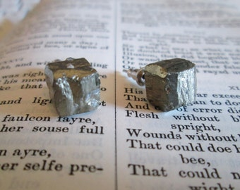 Pyrite Studs on Surgical Steel Posts