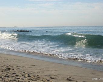 Ventura Beach Waves Photography Instant Download, Nature Art