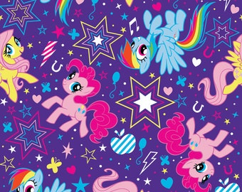 FLEECE  My little Pony Toss Fabric From Springs Creative By the Yard