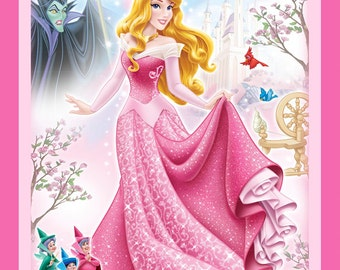 Per Panel, Disney Sleeping Beauty Fabric From Springs Creative