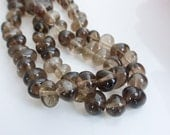 Smokey Quartz Pebble Nugget Beads 14mm x 8mm, 15.5 Inch Strand (50 Beads), Craft Supplies, Beads, UK Seller (GB1103)