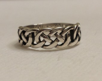 Celtic knot ring, sterling silver celtic ring, irish ring