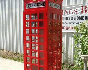 Reproduction Red Telelphone Phone Booth made from Wood ( like old cast iron ones )