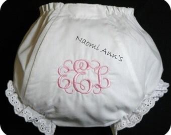 Personalized Monogram Little Girl Bloomer Dress Cloths