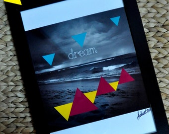 """Poster Poster """"Dream"""" A4, photography black & white"""