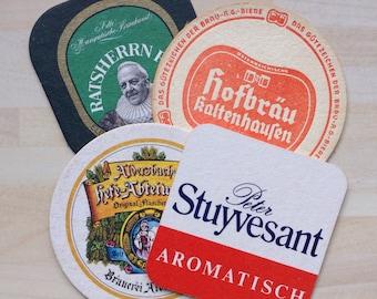 4 Vintage 1970s Beer Mats
