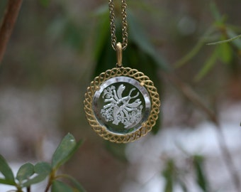 Vintage Crown Trifari Zodiac Pendant Necklace / Cancer the Crab Pendant Necklace / Cancer Pendant / Zodiac Jewelry / Cancer Zodiac