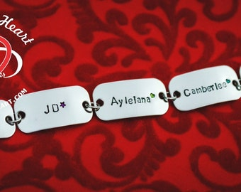 Personalized Hand Stamped Name Bracelet