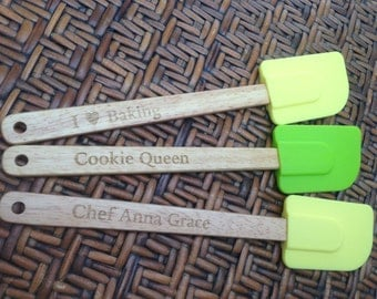Kitchen Spatula Utensils Cookware with up to 3 different messages pick your color and message