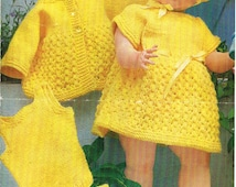 "Dolls knitting pattern.16- 20"" doll. Baby Anabelle, Newborn. Vintage copy. PDF instant download."