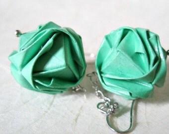 Origami Earrings - Paper Earrings - 1st anniversary gift - Paper Jewelry - Origami Jewelry - Paper Anniversary