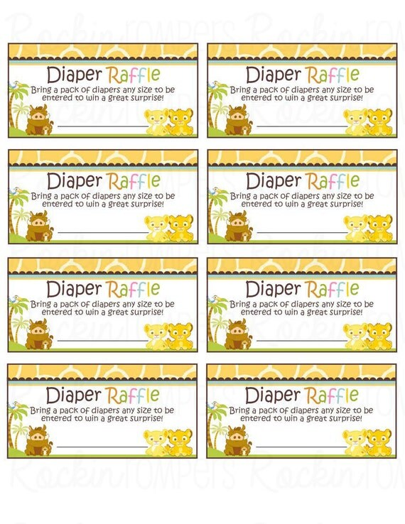 Exhilarating image pertaining to free printable diaper raffle ticket template download