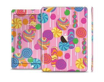 The Pink With Vector Color Treats Skin Set for the Apple iPad (All Models Available)