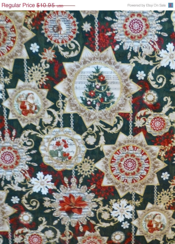 Cotton Fabric, Quilt, Home Decor, Decorating, Craft,Christmas, Holiday ...