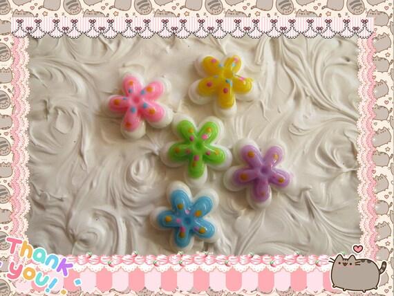 0: )- CABOCHON -( Sakura Flower Multi Color