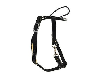 Leather Tracking Dog Harness with Handle - 2 Colors