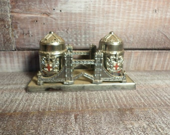 Domine Dirige Nos London Salt and Pepper Shakers Made in England