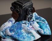 Luxury Silk Scarf Camera Neck Strap