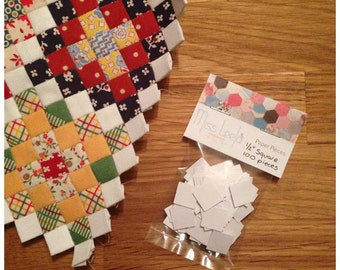 100 Half Inch Square Paper Pieces - English Paper Piecing Patchwork