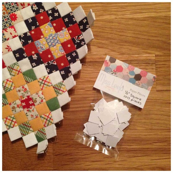 100 Half Inch Square Paper Pieces - English Paper Piecing Patchwork - Patchwork Quilting