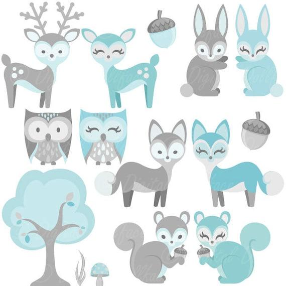 Nursery Animals Clip Art Clipart Boys by DigitalDollface ...