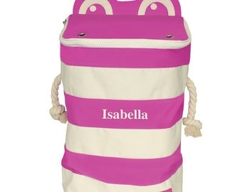P'kolino Personalized Monster Storage Bin- Pink (add name to be personalized in Notes)