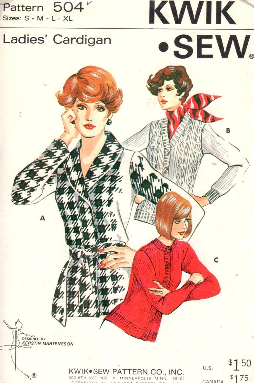 Sale kwik sew 504 sizes xs xlbust 325 45 ladies sweater sold by extremesewingdiva jeuxipadfo Choice Image