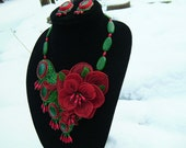Roses are Red...bead embroidered collar, necklace