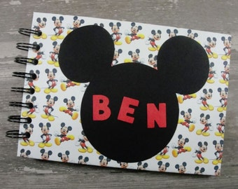 """Personalized MICKEY MOUSE Autograph Book and Photo Album - 5""""x7"""" ~ Disney Autograph Book"""