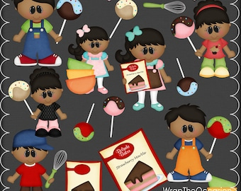 Cake Pop Kids II Clipart