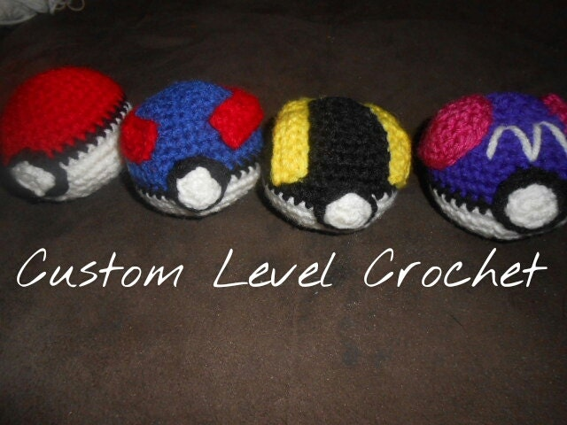 Amigurumi Master Ball : Crochet Handmade Poke Ball Great Ball Ultra Ball Master
