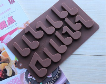 Notes Chocolate Mold Flexible Silicone Cake Fondant Mould Candle Icing Chocolate Fimo Resin Crafts DIY Mould in Handmade