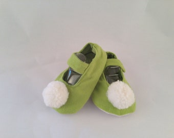 Tinkerbell style fabric shoes